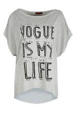 T-shirt, maglie e camicie da donna grigi viscosi taglia M