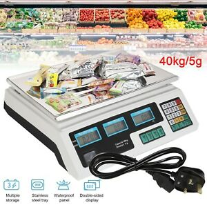 Digital Fruit Scales Electronic Veg Commercial Shop Retail Market Price Weigh