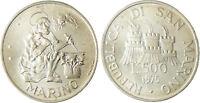 SAN  MARINO  SAINT  MARIN   500  LIRE  ARGENT  1975  GRAVEUR    FLEUR  DE  COIN