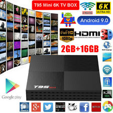 T95 Mini 2+16GB Android 9.0 Octa Core 6K Smart TV BOX 3D WIFI TV Media Player