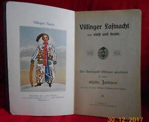 Festschrift = Villinger Fastnacht einst und heute - 1882 - 1922