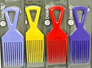 PROFESSIONAL QUALITY CS BEAUTY AFRO COMB CURLY HAIR & WIDE TOOTH COMB 5 COLOURS