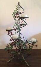 Partylite Festive Centerpiece P8645 Spiral Metal Candle Holder Tree Retired