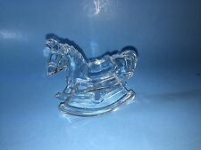24% Lead Crystal Rocking Horse Kristal Color Factory Made In Italy 70 80s