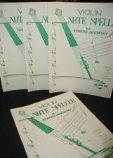 (4x)Violin Note Speller by Edward Janowsky~Published by Belwin, 1950