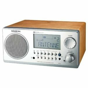 Sangean Digital AM/FM Stereo System w/ LCD & Alarm Clock - Walnut - WR2WAL