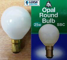 x5 BELL 25W SBC B15 GOLF SMALL BAYONET BALL BULB 25 WATTS OPAL