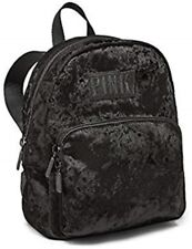 Victoria's Secret PINK MINI Backpack Luxe Velvet School Campus Travel Bag Tote