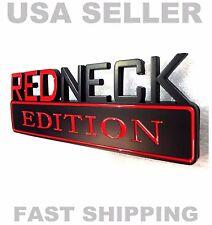 REDNECK EDITION GMC car TRUCK EMBLEM LOGO DECAL SIGN badge ORNAMENT red black sx