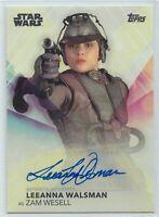 2020 Women of Star Wars Leeanna Walsman as Zam Wesell Autograph Card