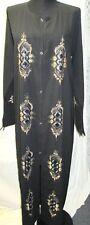 Muslim Women's Black Abaya whit beautifull emboridey works long Dress