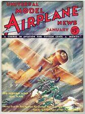 Universal MODEL AIRPLANE NEWS Magazine January 1933 Compressed Air engine