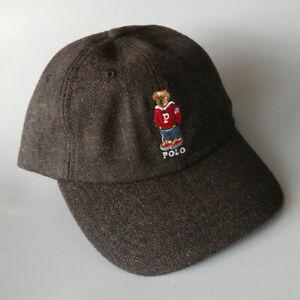 Polo Hoody Bear Adjustable Baseball Cap Embroidery Wool  Winter Warm Hat