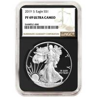 2019-S Proof $1 American Silver Eagle NGC PF69UC Brown Label Retro Core