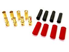 3 Paar 5,5mm Goldkontaktstecker Stecker Buchse + Schrumpfschlauch Lipo ESC 120A