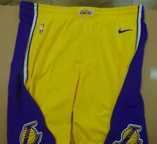 Nike NBA authentic Lakers team issued Gold & Purple shorts size 48 Length +2
