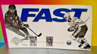 Buffalo Sabres NHL Hockey SGA Laminated Sign Fast Fuhrious WGR 1993 Lafontaine