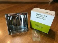 Vintage 1970's NOS Miami Carey Chrome Recessed Soap Dish Original Box 8001-S