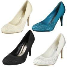 Zapatos de tacón de mujer textiles Anne Michelle color principal azul