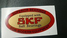 "SKF bearing decal 1940's Craftsman, Delta and others 2-3/8"" 2 for 1 reproduction"