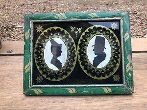 Antique Pennsylvania Silhouette in Folk Art Frame!!!