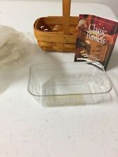 Longaberger parsley basket and protector Brand new