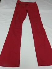 PEPE WOMEN'S RED EMBELLISHED CLASSIC LOW JEANS    SIZE 25   VERY NICE! (B)