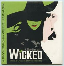 Selections From Wicked Broadway Musical Cast 2 Track Promotional Promo CD