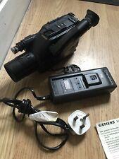 Vintage SIEMENS FA 244 cámara de vídeo Grabadora Con Cargador.