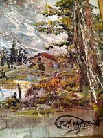 VINTAGE IMPRESSIONIST - Winter Landscape - Oil on Canvas - Signed