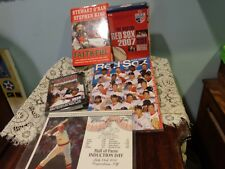 Boston Red Sox Memorabilia lot 2007 & 2004 DVDs Book Yearbook  Photo File Fisk