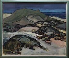 Irmgard Stölzer Friese Dünen am Strand auf Sylt Tempera 55 x 64 cm Hünengräber