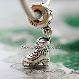 Authentic Pandora Ice Skate 791025 Sterling Silver Dangle Charm