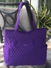 VERA BRADLEY PLEATED TOTE TRAVEL SHOULDER BAG PURSE PURPLE in ELDERBERRY  98 dbc7602a36e51