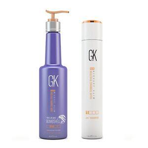 Global Keratin GKhair Miami Bombshell Blonde Hair Treatment & pH+ Shampoo 9oz