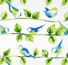 Outdoor/ Indoor ~ Upholstery ~ Birds on Branches ~ White ~ Fabric ~ per 1/4 yard