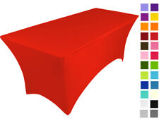 BRIGHT RED spandex lycra stretch cover tablecloth for 6ft foot table 180X75X75