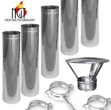 Stainless steel flue kit for waste oil heater MTM 8-30