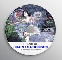 CHARLES ROBINSON Classic Story Books Illustration Art Deco Vintage Art Print CD