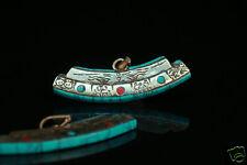 Amulet Tibetan Om Buddha All Seeing Eye Turquoise Magic Symbols Pendant Necklace