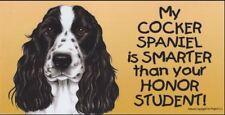 Cocker Spaniel Smarter Than Your Honor Student Magnet 4x8 refrigerator car dog