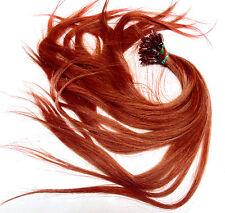 Indian Remy Extensions Echthaar Haarverlängerung great 50cm hair lenght kupfer