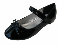 Kids Girl Patent Leather Bow Ballet Flats Dress Shoes Size 9--4  SP26