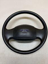 97-03 Ford F-150 F-250 Molded Rubber Complete Steering Wheel OEM Black