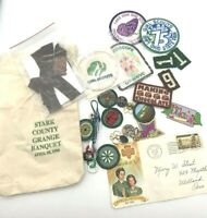 Large Lot of over 25 Vintage Girl Scout Merit Badges Patches Insignia Pins Ohio