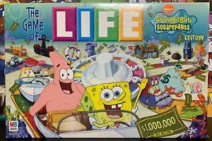 The Game of Life: Spongebob Edition 2005 Milton Bradley COMPLETE GREAT SHAPE