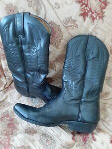 Loblan Black Cowboy Boots