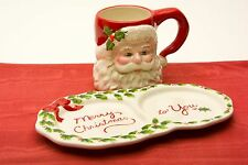 SANTA MUG & PLATE SNACK SET ~ MEMORIES OF CHRISTMAS ~ NEW