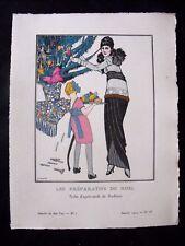 J. Gosé Les Préparatifs de Noël  Gazette bon ton Noël 1913 pl IV