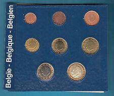 SET EURO BELGIO BELGIEN SERIE COINS ANNI MISTI FIOR DI CONIO 8 PEZZI IN  BOX